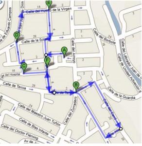 Itinerario procesión de SAN JOSÉ