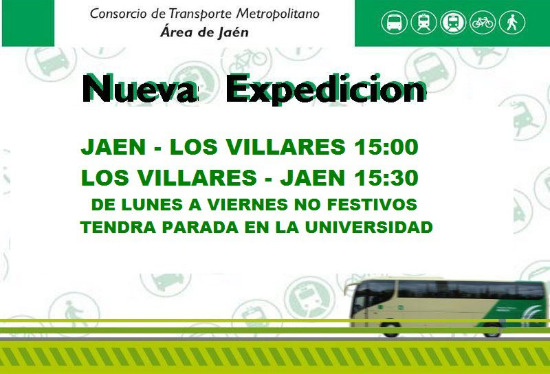 Los villares nueva linea de autobuses para estudiantes - Tiempo los villares jaen ...