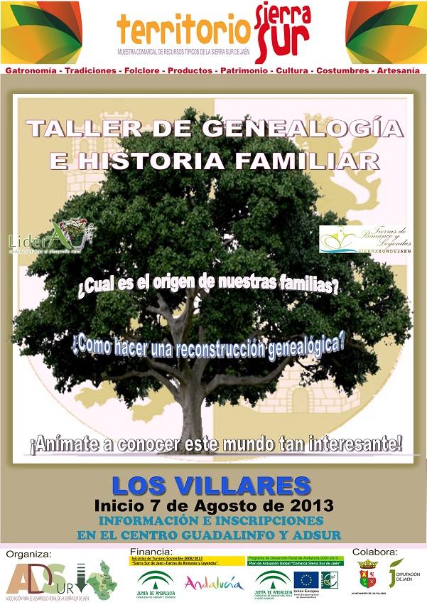Cartel Genealogía Los Villares