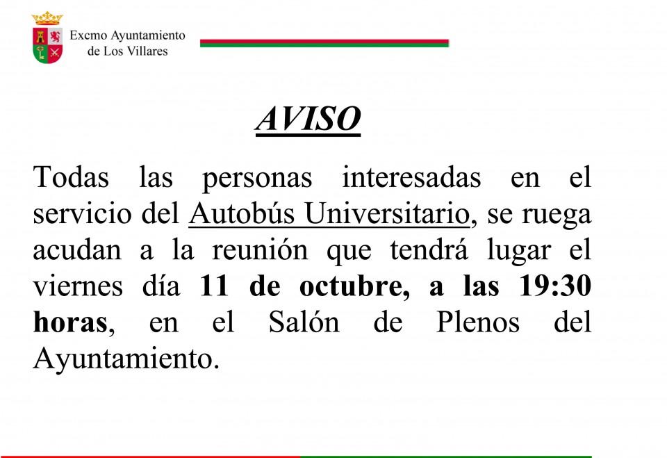 AUTOBUS UNIVERSITARIO