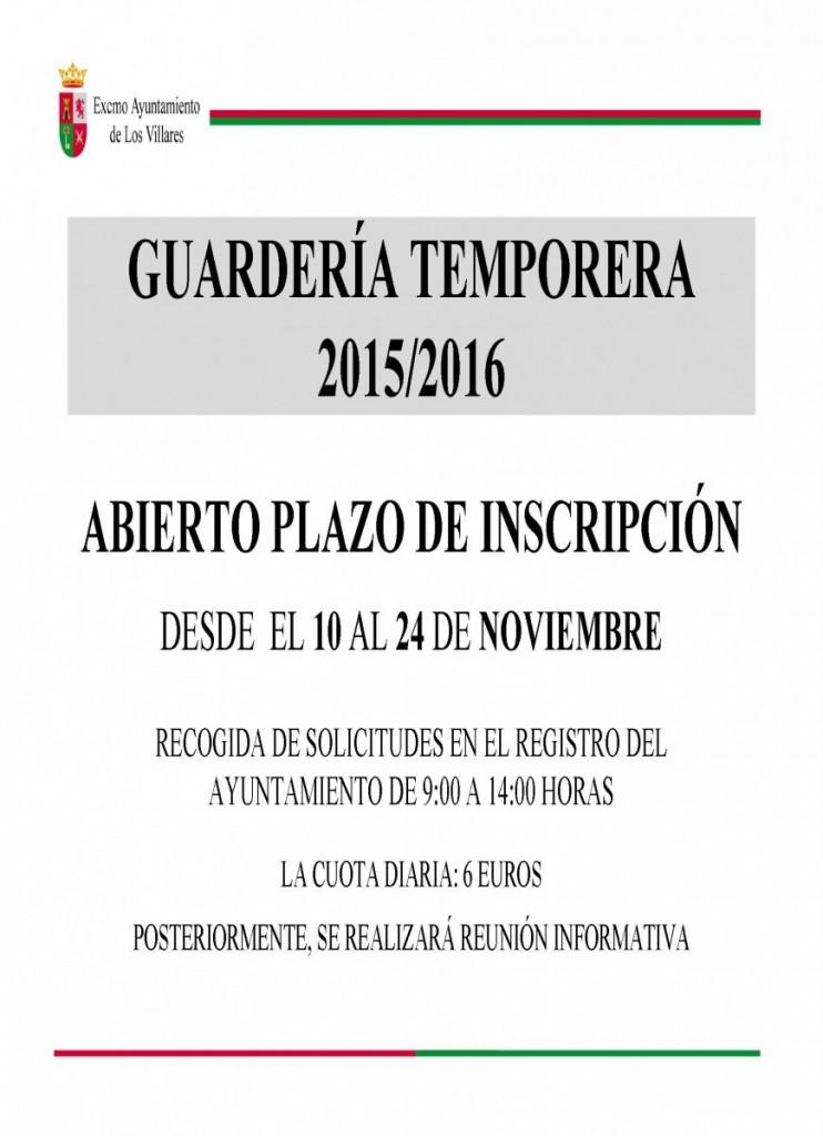 01-Cartel Guardería Temporera